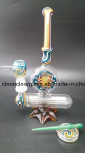 Colored Glass Water Pipe Oil Rig Wholesale with Dabber Rods and Plate pictures & photos
