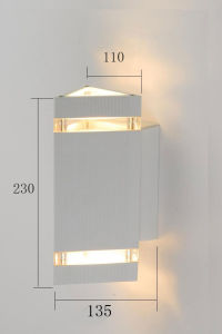 Matte White Waterproof Aluminum Outdoor Wall Sconce (KM-G79/2) pictures & photos