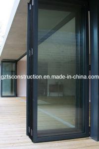 Aluminum Bi-Folding Door with As2208 Double Glazing Glass Entrance Door pictures & photos