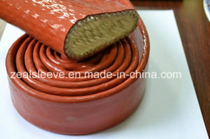 Red Fiberglass Braided Insulation Sleeving Coated with Silicone Rubber pictures & photos