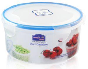 5PCS Round Transparent Plastic Food Container pictures & photos