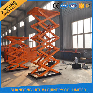 China Hydraulic Scissor Cargo Lifting Equipment / Hydraulic Lifter pictures & photos