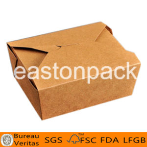 Disposable Kraft Food Packaging Square Bottom Paper Noodle Box pictures & photos