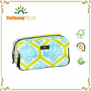 Wholesale Zipper Closure Cotton Cosmetic Bag, Cosmetic Pouch for Promotion pictures & photos