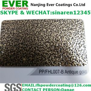 Hammer Tone Antique Gold Vein Texture Effect Powder Coating Paint pictures & photos