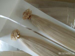 100% Human Remy Hair, Hair Extension Keratin Flat Tip Glue