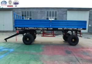 Farm Four Wheel Tractor Trailed Farm Trailer Double Axle Heavy Duty Farm Trailer pictures & photos