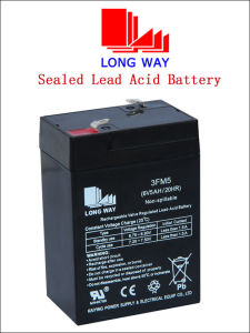 6V5ah Sound Equipment Sealed Maintenance Free Lead Acid Battery pictures & photos