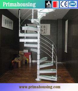 Stainless Steel Staircase with Cable Railing pictures & photos
