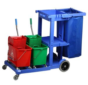 Large Platform Janitorial Cart