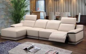 L Shape Leather Recliner Sofa Furniture, Modern Living Room Furniture (G17324) pictures & photos