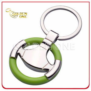 Plastic & Metal Steering Wheel Keyring Gift for Car pictures & photos
