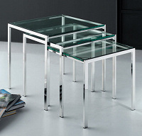 Stainless Steel Metal Nesting End Side Corner Table pictures & photos