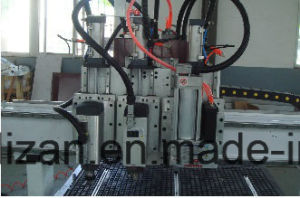 CNC Cutting and Engraving Machine with 2 Spindles and 1 Drilling Head 9V pictures & photos
