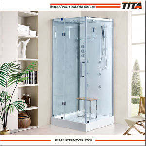 2016 Square Design Shower Stall with Acrylic Back Panel Ts9009 pictures & photos