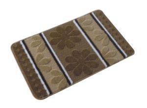 PP Jacquard Bath Rugs, with Simple Designs, SMD-01 Brown Color pictures & photos