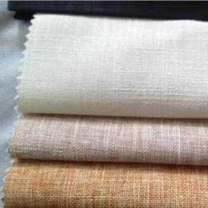 Woven Textile Linen Cotton Slub Fabric for Garment