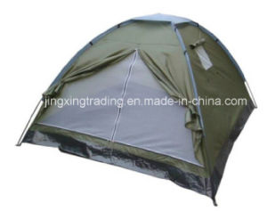 Smart Single-Skin 100% Polyester Camping Tent for 3-4 Persons (JX-CT015) pictures & photos