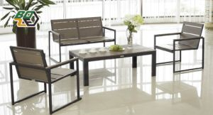Outdoour Furniture Garden Aluminum Polywood Sofa Set Patio Furniture (BZ-P040)