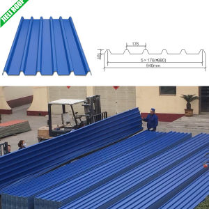 Blue UPVC Corrugated Industrial Roof Tiles pictures & photos