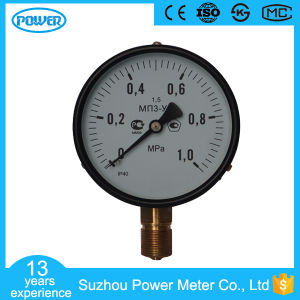 4inch-100mm Black Steel Case Brass Connection Bottom Thread Type Pressure Gauge pictures & photos
