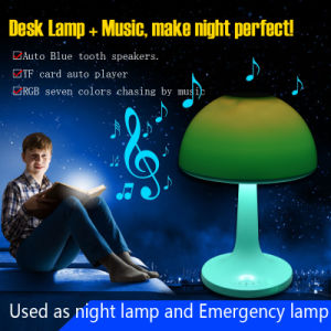 Magic Mood and Music LED Table Lamp with Bluetooth Speaker and TF Card Player pictures & photos