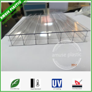 Transparent Triple-Wall Hollow Polycarbonate UV Protected PC Sheet Greenhouse Roofing pictures & photos