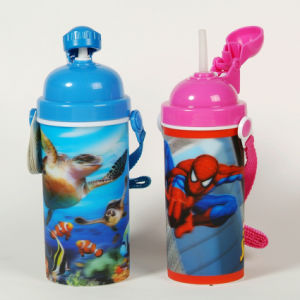 Eco-Friendly Plastic 3D Lenticular Cups with Lids and Straws pictures & photos