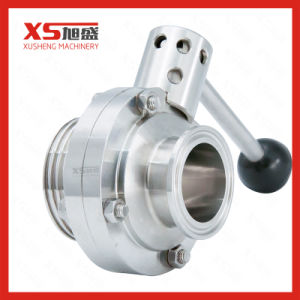 Stainless Steel 304 316L Threading-Clamping Sanitary Butterfly Valve pictures & photos