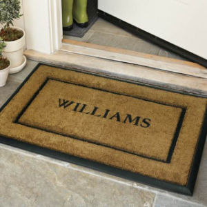 Eco Environmental Friendly Indoor Garden Tufting PVC Vinyl Back Coco Coir Coconut Fiber Door Mats pictures & photos