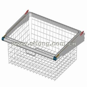 Cbw Metal Clothes Sliding Wire Basket with Chrome Finish and Satin Nickel Surface Treatment (CB-1) pictures & photos