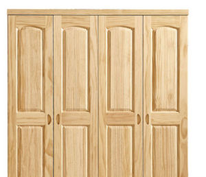 Solid Pine Wood Wardrobe with Cheap Price pictures & photos