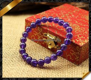 Amethyst Stone Beads Bracelets, Natural Gemstone Bracelet Jewelry (LW062)