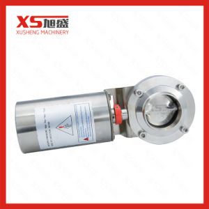 Stainless Steel Sanitary Pneumatic Actuator Butterfly Valve for Dairy pictures & photos
