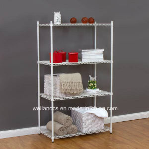 White Powder Coating Metal Wire Sundries Rack for Home (CJ6060120A4C) pictures & photos