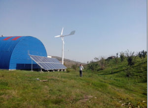Anhua Hot Designed High Safety Wind Solar Hybrid off Grid System Completely Plan pictures & photos