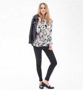 OEM 2015 New Women Chiffon Blouse Design Fashion Women Tops Model, Blouse for Uniform pictures & photos