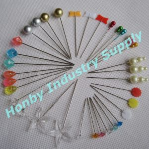 Wholesale Straight Plastic Head Islamic Hijab Pin pictures & photos