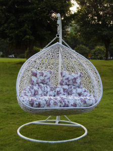Garden Furniture Rattan Love-Seat Hanging Swing Chair (FH-005)
