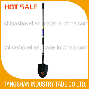 Hot Sale- Silver Color Long Fiberglass Handle Shovel pictures & photos