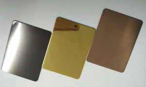 Lowest Price Golden Mirror and Sanding Color Coated Stainless Steel Sheet pictures & photos