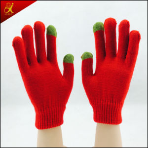 School Style Five Fingers Screen Glove pictures & photos