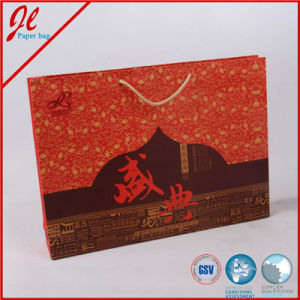 Red Shopping Paper Bags Packaging Bags for Mookcake pictures & photos