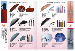 Three Fold Manual Open Pass Bottle Umbrella (P006) pictures & photos