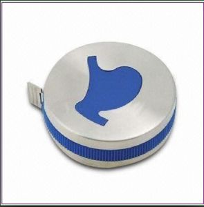 Silver Color Promotional Gift Tape Measure (RF6158)