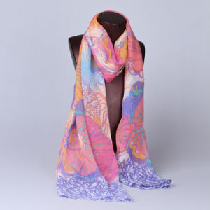 2016 Top Sale Fashion Printed Silk Scarf Ss1000