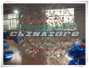 Beautiful Colorful Dots Inflatable Zorbing for Sale