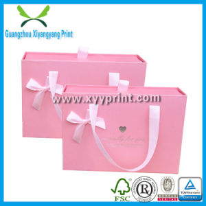 Custom Pink Color Paper Wedding Door Gift Box pictures & photos