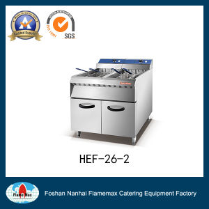 Stainless Steel Electric Deep and Freestand Chip Fryer with Cabinet (HEF-26-2) pictures & photos
