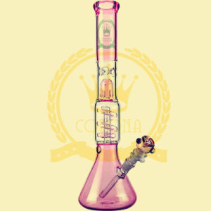 Wholesale Oil Rig Base Beaker Downstem Tall Colored Glass Water Pipe Factory for Canada USA Smoking Shop pictures & photos